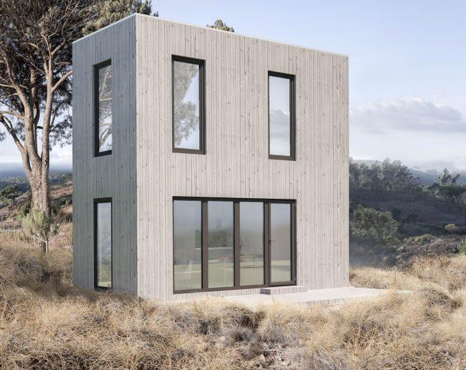2 floors wooden modul home